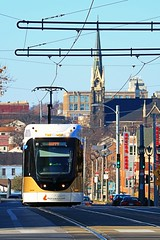 The Hop - Happy (johndecember) Tags: milwaukee mke wisconsin usa album 2018 november fall gallery onthehoproute thehopmke brookvillelibertymodernstreetcar 21stcenturytransit 21stcenturystreetcar transit gobystreetcar