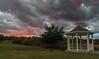 Gazebo Gazing (tquist24) Tags: denton nikon nikond5300 outdoor texas clouds dramatic evening gazebo geotagged grass landscape sky sunset tree