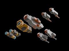Homeworld warships (2) (kylerjadams) Tags: homeworld kushan taiidan hiigaran lego space cruiser destroyer
