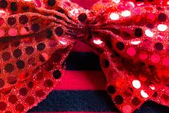 Christmas Attire? HMM (Carol (vanhookc)) Tags: hmm redandblackstripes redpolkadots dotsandstripes macromondays sparkles