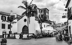Restaurants- Funchal Madeira (LVNWtransFoto) Tags: canoneos40d funchal madeira blackwhite restaurant cafe bar monochrome mono