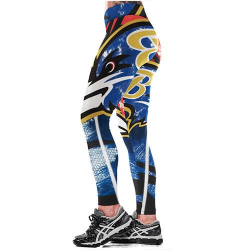 Women Leggings Baltimore Ravens Sport Print Running Active Sportswear High Waist Pant Sexy Slim Hip Fitness Jogger Gym