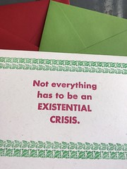 Existential cards with envelopes (artnoose) Tags: a2 clover source paper colors choice envelopes envelope crisis holly green red etsy card christmas holiday letterpress existential
