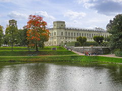 Park and Palace in Gatchina (Russia) (janepesle) Tags: russia travel saintpetersburg landscape water lake architecture tree sky autumn fall foliage palace garden gatchina гатчина дворец пейзаж