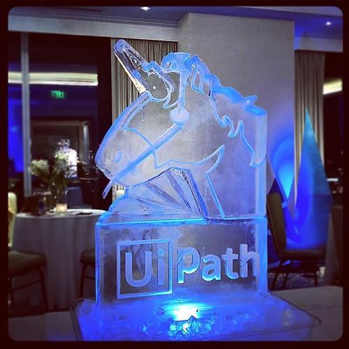 A fun #unicorn #iceluge for a #holidayparty @fairmontatx tonight! #fullspectrumice #thinkoutsidetheblocks #brrriliant #branding - Full Spectrum Ice Sculpture