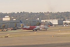 Air India Express Boeing 737-800 VT-GHI test flight Boeing Field Airport webcam capture (AirportWebcams.net) Tags: air india express boeing 737800 vtghi test flight field airport webcam capture bfi kbfi