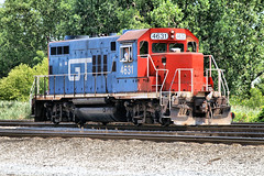 GTW4631-GP9R_Melvindale-MI_07-15-2007a (Count_Strad) Tags: railroad track tracks emd ge gp382 c408w es44dc gp9r c449w sd40t2 plymouth melvindale northville mi michigan gtw canadiannational cn