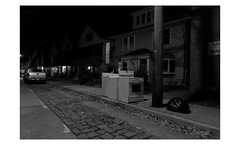 Long Island (PhotoRapper (Michael)) Tags: canon 5d dslr classic canoneos5d tamronsp2470mmf28divcusd tamronlens northport ny longisland night highiso monochrome digital bayer cmos bw blackandwhite garbage