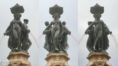 Charites (ernstkers) Tags: bordeaux charis charites girl grace nude publicart sculpture statue fountain