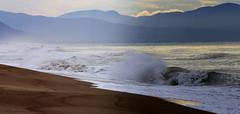 Wild stormy sea (ᙢᗩᖇᓰᗩ ☼ Xᕮᘉ〇Ụ) Tags: sea waves storm sturm cloudy meer wolken greece griechenland berge mountains sky himmel θαλασσα ελλαδα κυματα ουρανοσ τρικυμια συννεφια βουνα παραλια strand beach november canoneos1100d moments momente στιγμεσ wind ανεμοσ natur nature motion emotion power kraft
