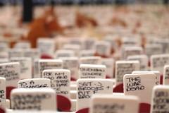 THE WAR DEAD.... (markwilkins64) Tags: london westminsterabbey memorial woodencrosses poppies markwilkins mark remembrance war dead leaves autumn november bokeh dof shallowdepthoffield depthoffield writing handwritten