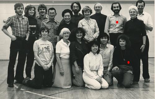Toronto Ontario - Canada  - Dance Class Group Portrait  - 1984