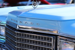 Baby Blue (Chuck Diesel) Tags: caffeineandoctane carshow atlanta cadillac classiccar powderblue babyblue carolinablue skyblue eldorado grill chrom hoodornament caddy