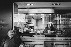 Allein allein (Zesk MF) Tags: street people solitude lonely strase candid cafe zesk cologne x100f fuji mono bw black white