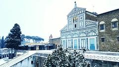 Abbazia di San Miniato al Monte (Go Ciop Go) Tags: firenze florence toscana tuscany italia italy neve snow nevicata snowfall inverno winter 2018 sanminiato abbaziadisanminiato church