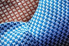 Macro Mondays : Cloth (erichudson78) Tags: abstractmacro canonef100mmf28lmacroisusm macro macromondays cloth tie cravate soie silk canoneos6d blue bleu