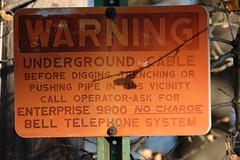 No Charge (Gene Ellison) Tags: belltelephone sign warning orange faded old outofdate provia fujifilm sooc