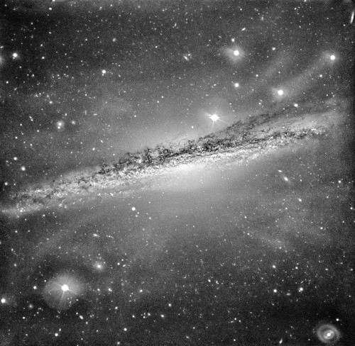 NGC 1055 Edge-On Galaxy, variant