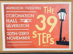 The 39 Steps a playbill. (Bennydorm) Tags: publicity mystery thriller novembre november iphone6s iphone inglaterra inghilterra angleterre europe uk gb britain england cumbria furness ulverston thestage theatrical theatre poster drama amateurdramatics words letters advertisement advert playbill play johnbuchan the39steps