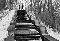 Volkspark Friedrichshain (w.friedler) Tags: treppe stairs stairway schnee snow