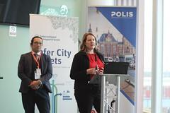 Irene MCALEESE, See.Sense, Co-founder (r.), Sam LI, Transport for Greater Manchester (TfGM), Senior innovation Officer (International Transport Forum) Tags: itf safercitystreets4thmeeting oecd roadsafety cycling 2018 polis