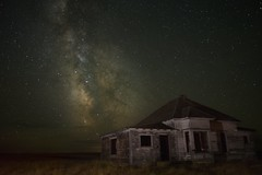 Milky Way Abandoned House 9766 B (jim.choate59) Tags: jchoate on1pics stars night dark milkyway abandoned rural spooky scary sky oncewashome