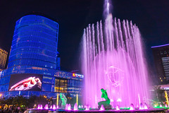 City Night (yc4646) Tags: architectural architecture art artistry building commercialbuilding edifice edifices fineart fountain landscape landscaping light lighting mall night sculpture shoppingmall statuary statue structures hangzhou zhejiang china