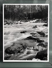 Running River - Silver Gelatin Print (mikefiction) Tags: ishootfilm shootfilm film 4x5 largeformat blackandwhite silvergelatinprint silvergelatin darkroomprint darkroom landscape