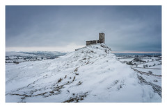 Brentor (Rich Walker Photography) Tags: brentor church dartmoor tavistock devon landscape landscapephotography landscapes landmark landmarks historic history ancient building sky snow weather winter blue white field hill hills canon england efs1585mmisusm eos eos80d sunrise cold panorama pano