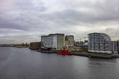 Spillers Building, Royal Victoria Dock (London Less Travelled) Tags: uk unitedkingdom britain england london eastlondon newham dock bridge victoriadock water ship abandoned spillers silvertown excel