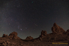 They Came from Space (Steven Christenson) Tags: geminid meteor shower trona pinnacles california fieldevent night sky stars streak gemini orion taurus scageminids