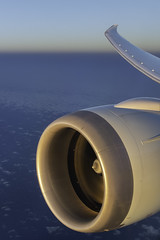 Somewhere Over the Atlantic (Royal Canadian) Tags: sky airplane dreamliner engine jet atlantic wing atmosphere sunset