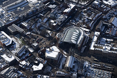 Norwich city centre in the snow (John D Fielding) Tags: norwich snow norfolk city above aerial nikon d810 hires highresolution hirez highdefinition hidef britainfromtheair britainfromabove skyview aerialimage aerialphotography aerialimagesuk aerialview drone viewfromplane aerialengland britain johnfieldingaerialimages fullformat johnfieldingaerialimage johnfielding fromtheair fromthesky flyingover fullframe