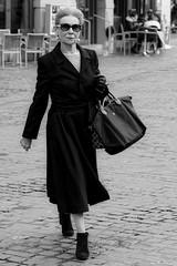 The Lady in Black (picsessionphotoarts) Tags: lightandshades lichtundschatten blackandwhite bw bayern bavaria deutschland germany franken franconia nikon nikonphotography nikonfotografie nikond850 festbrennweite primelens streetportrait downtown afsnikkor85mmf18g streetphotography moments snapshot schnappschuss unterfranken würzburg