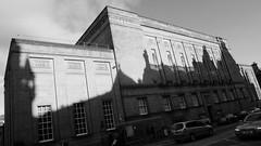 Sunlight and Shadows on the Great Book Despository (byronv2) Tags: edinburgh edimbourg oldtown architecture building shadows nationallibraryofscotland library books georgeivbridge blackandwhite blackwhite bw monochrome