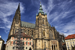 St. Vitus Cathedral (abhishek.verma55) Tags: stvituscathedral prague ©abhishekverma sky church cathedral czechia czechrepublic czech clouds outdoor exterior architecture architectural building facade travel flickr outdoors photography blue bluesky gothic old perspective tourism traveller travelphotography travelphotos historical history landmark monument urban ancient cityscape city praguecastle praha religion religious famous famousplaces dreamvacation vacation stvitus eurotrip europe beautiful beautifulsky beauty colourful colour cloudy exploration outside oldchurch vivid vibrant wanderlust
