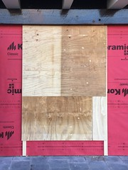 (joostmarkerink) Tags: construction wood composition pink postmodern wall