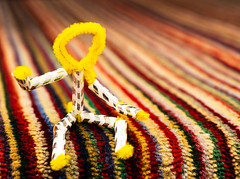 pipeman (S Hancock) Tags: sony a6300 pipe cleaner man yellow strips carpet sitting down abstract