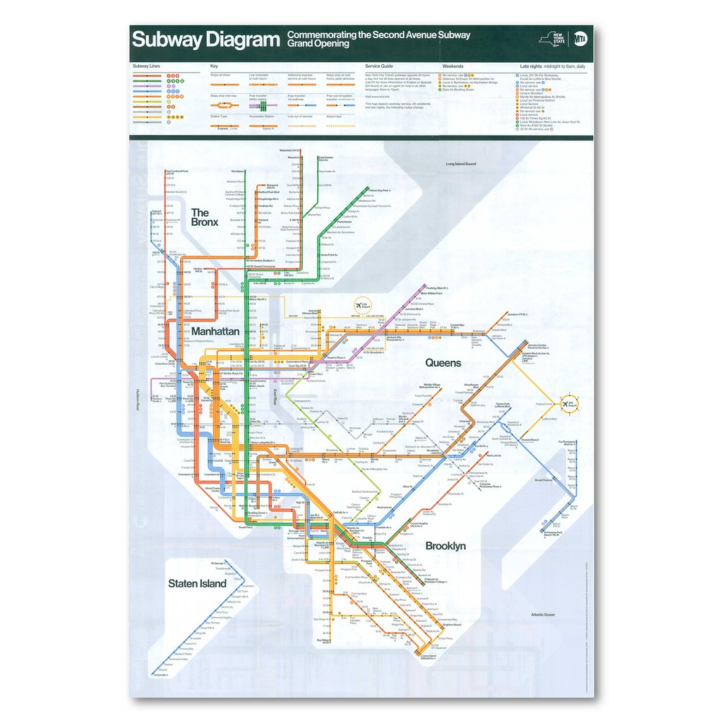 Nyc Subway Map With Second Avenue.The World S Best Photos Of Map And Nycta Flickr Hive Mind