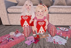 Lets make Valentines! (Emery/Teagan Parker) Tags: colormecute doe lovebugs cherrytots dorks valentine heart pink red bebebaby toddleedoo crafts