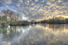 Ice and Fire (ArtGordon1) Tags: hollowpond hollowponds eppingforest walthamforest leytonstone london england uk winter january 2019 reflections reflection ice frozen clouds cloud davegordon davidgordon daveartgordon davidagordon daveagordon artgordon1