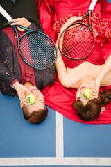 (叭叭浩) Tags: 網球 婚紗 晚禮服 球拍