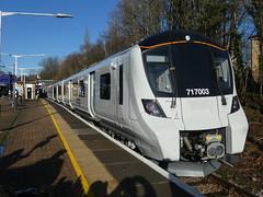 717003-GordonHill-P1531396 (citytransportinfo) Tags: 717003 siemens desirocity train railway greatnorthern station gordonhill sunshine bluesky winter class717