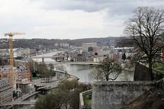 Confluence of Meuse and Sambre rivers from the Citadelle, Namur, Belgium (Paul McClure DC) Tags: namur namen belgium belgique wallonia wallonie feb2018 historic architecture scenery castle citadel river sambre ardennes