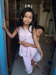 full body hug by Sasha :) (ghostgirl_Annver) Tags: asia asian girl annver teen preteen child kid daughter sister friend family portrait hug