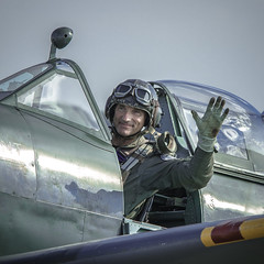 The Spitfire Pilot (kamil_olszowy) Tags: spitfire pilot duxford flying legends raf warbird
