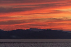 Gulf Islands Sunset (josullivan.59) Tags: 2018 artistic bc britishcolumbia canada island tamron150600 vancouverisland abstract backlit clouds color evening goldenhour lightanddark minimalism nature nicelight ocean orange outdoor outside scenic sky sunset telephoto texture wallpaper warm water