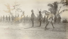Waiting for the arrival of the German forces to surrender. From left to right: Brigade Major Hermitage, Major Martin, Captain Ravenscroft, by F. S. Burnell, PXA 2165 (State Library of New South Wales collection) Tags: ww1 worldwarone australia expeditionary force newbritain papua guinea new engagement pacific australian burnell hebertshoe german rabaul