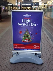 Poster, North Walk, Cwmbran 13 November 2018 (Cold War Warrior) Tags: chrustmas xmas cwmbran advertising