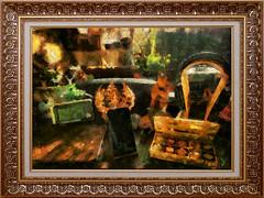 Музыкальный рай / Musical paradise (tatiana.ch) Tags: стилизация фотоживопись фото2018 натюрморт натюрмортспредметами рамка dap painting phototopainting ownphoto stilllife naturemorte cezanne